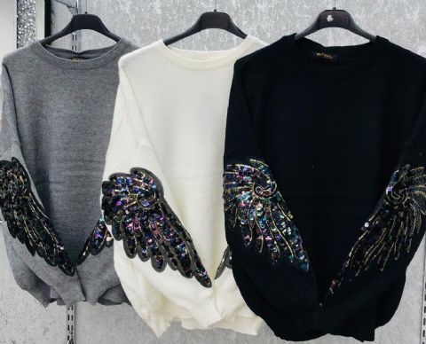 Angelica Sequin Angel Arm Jumpers